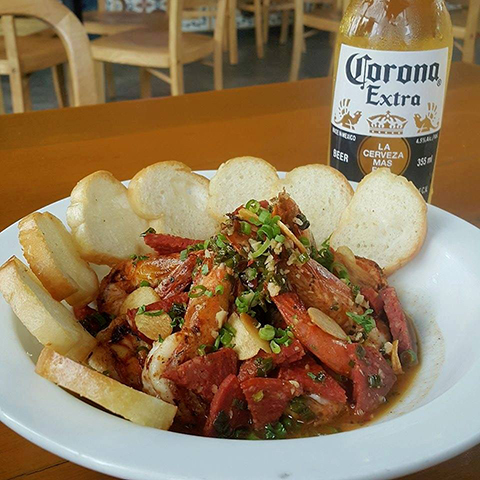Gambas and beer (1)